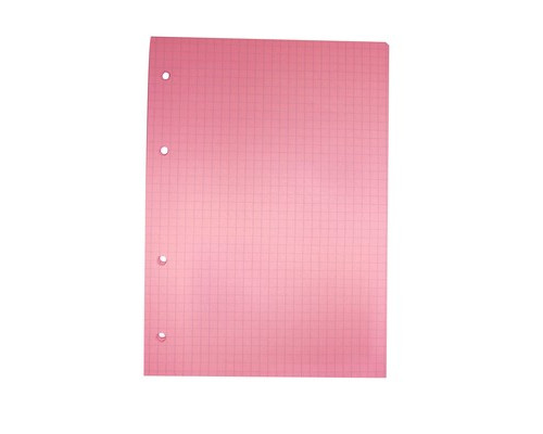 Сменный блок для тетрадей A5 80 листов розовый клетка - (407212К)