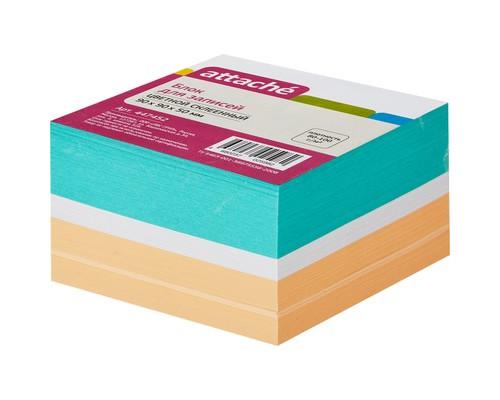 Блок-кубик Attache на склейке цветной 90х90х50 мм - (447452К)