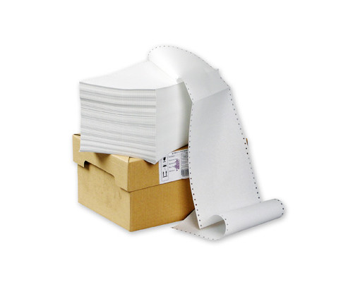 Перфорированная бумага однослойная ProMega 240 мм x 610 м 60 г/кв.м 2000 листов в упаковке - (22519К)