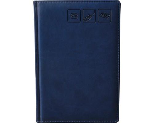 Телефонная книга Attache Сиам искусственная кожа А5 120 листов синяя 142х210 мм - (209667К)