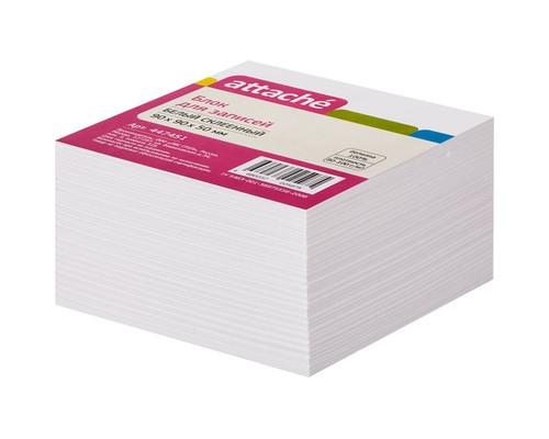 Блок-кубик Attache на склейке белый 90х90х50 мм - (447451К)