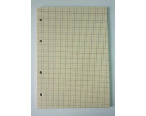 Сменный блок для тетрадей А5 50 листов оранжевый клетка - (416798К)