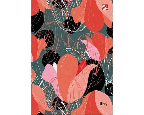 Ежедневник недатированный Listoff Тюльпаны твердый переплет А6 160 листов 110х145 мм - (606177К)