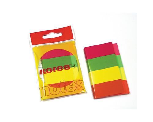 Закладки клейкие Kores бумажные 4 цвета по 50 листов 20х50 мм - (81594К)