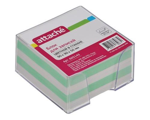 Блок для записей Attache 90x90x50 мм цветной в прозрачном боксе - (605143К)