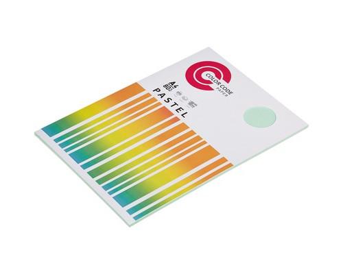 Бумага цветная ColorCode Pastel А4 зеленая 80 г/кв.м 50 листов - (473343К)