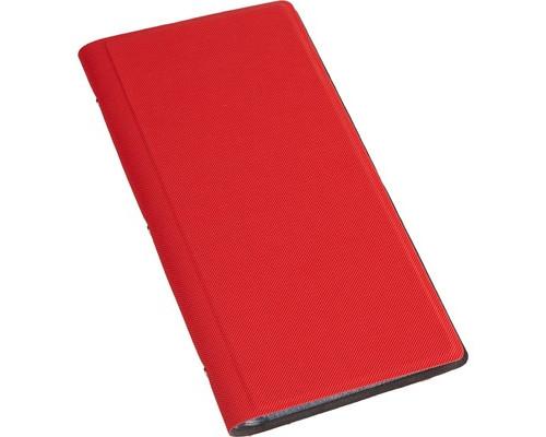 Визитница настольная Attache Selection фактурный PU на 128 визиток красная - (455465К)
