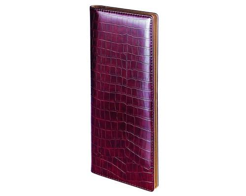 Планинг недатированный Bruno Visconti Croco искусственная кожа 64 листа коричневый 320х125 мм - (87937К)