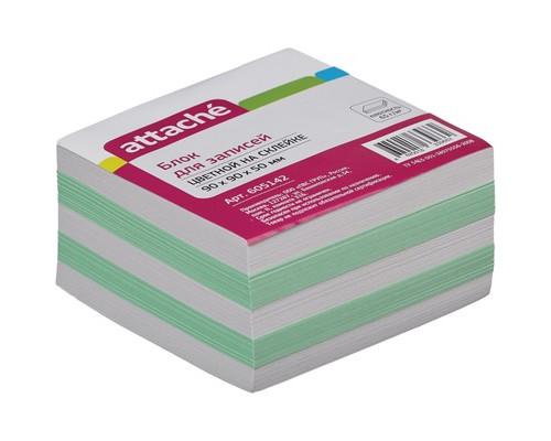Блок-кубик Attache на склейке цветной 90х90х50 мм - (605142К)