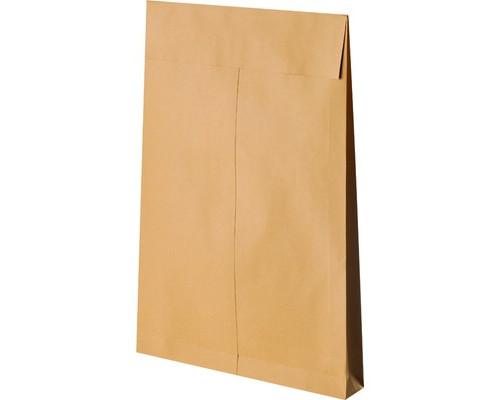 Пакет почтовый Gusset из крафт-бумаги стрип с расширением 280x400x40 мм 140 г/кв.м 100 штук в упаковке - (95224К)