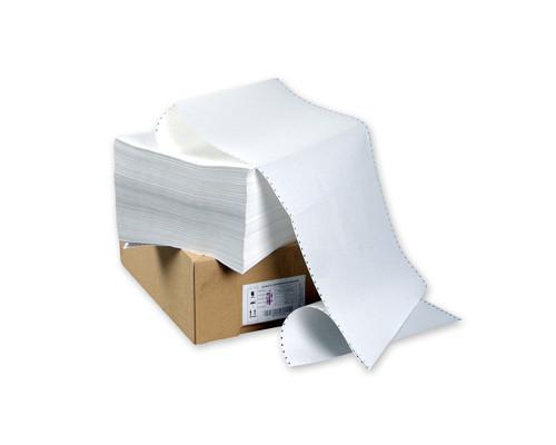 Перфорированная бумага однослойная ProMega 420 мм x 458 м 60 г/кв.м 1500 листов в упаковке - (102572К)