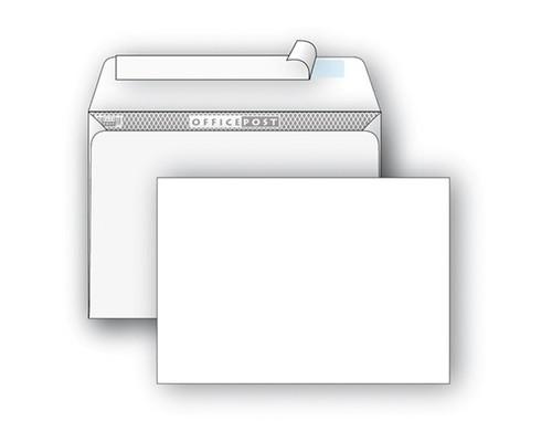 Конверт почтовый OfficePost E65 110x220 мм белый удаляемая лента 1000 штук в упаковке - (76415К)