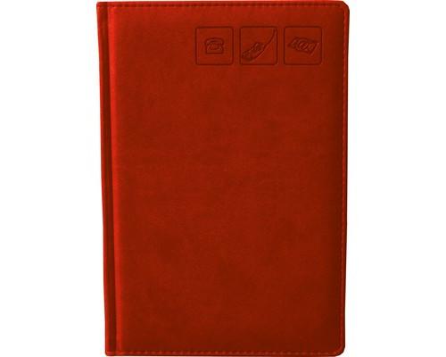 Телефонная книга Attache Сиам искусственная кожа А5 120 листов красная 142х210 мм - (209671К)