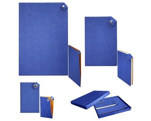 Набор недатированный Boncarnet Button синий визитница записная книжка папка - (479633К)
