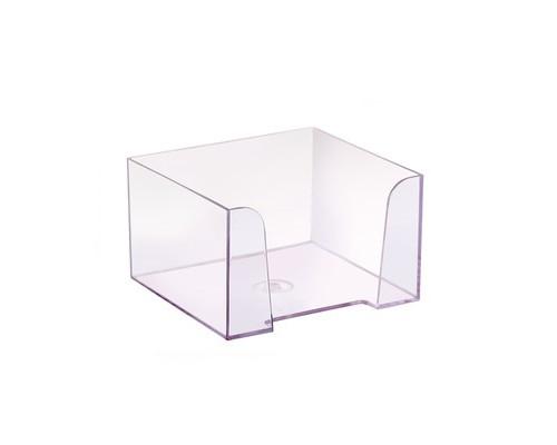 Бокс для бумаги прозрачный 90х90х50 мм - (479036К)