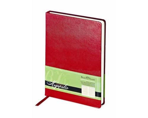 Ежедневник недатированный Bruno Visconti Megapolis А5 160 листов красный 145x215 мм - (213269К)