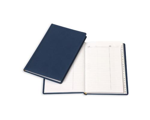 Телефонная книга Attache Вива искусственная кожа А5 96 листов синяя 202х133 мм - (61168К)