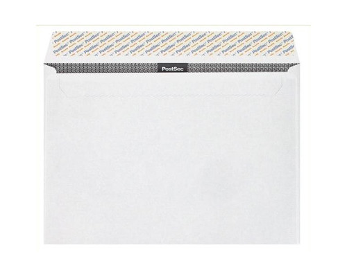 Конверт почтовый Security C4 229x324 мм белый удаляемая лента 500 штук в упаковке - (76394К)