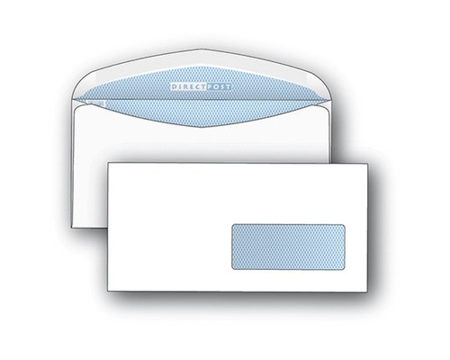 Конверт почтовый DirectPost C65 114x229 мм белый с клеем автомат правое окно 1000 штук в упаковке - (76410К)