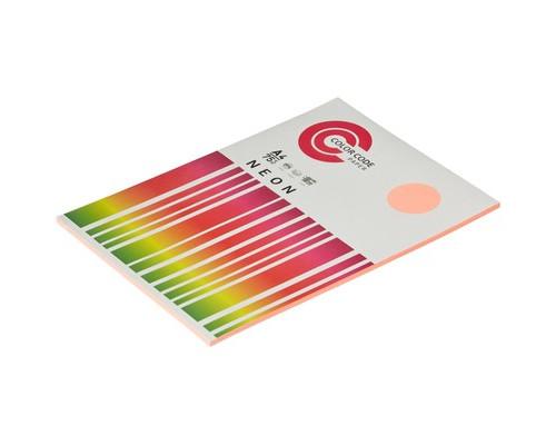 Бумага цветная ColorCode Neon А4 розовая 75 г/кв.м 100 листов - (473365К)