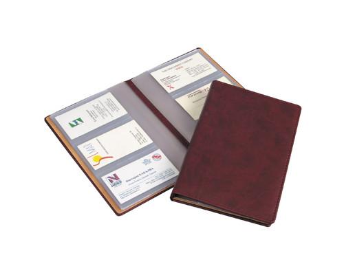 Визитница настольная Attache Вива искусственная кожа на 72 визитки бордовая - (105027К)