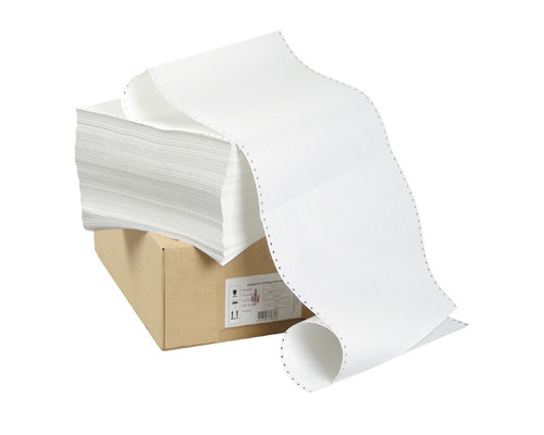 Перфорированная бумага однослойная ProMega 420 мм x 458 м 60 г/кв.м 1500 листов в упаковке - (212462К)