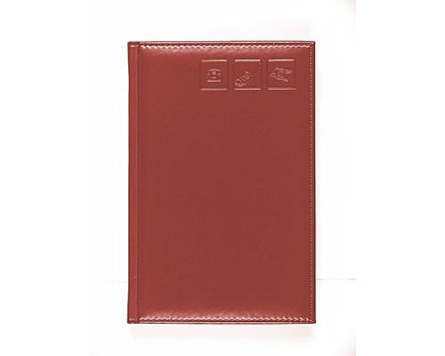 Телефонная книга Attache Каньон искусственная кожа А5 120 листов коричневая 142х210 мм - (84861К)