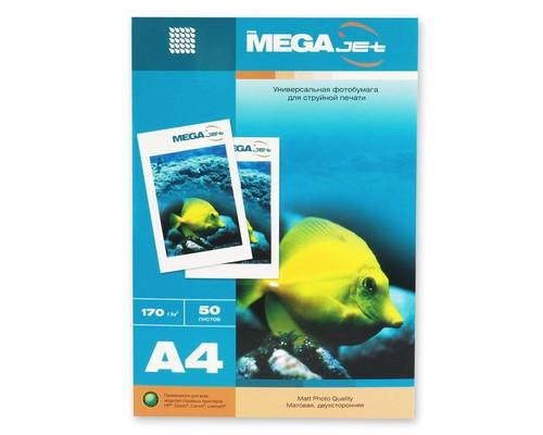 Фотобумага MEGA Jet матовая А4 170 г/кв.м 50 листов - (47004К)