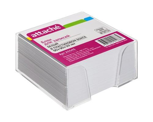 Блок для записей Attache 90х90х50 мм белый в прозрачном боксе белизна 92-100% - (25545К)