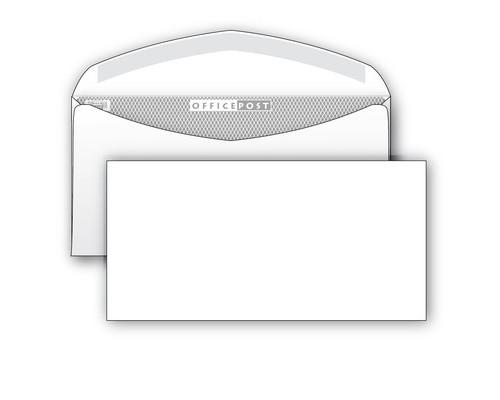 Конверт почтовый OfficePost E65 110x220 мм белый с клеем 1000 штук в упаковке - (76411К)