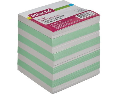 Блок-кубик Attache запасной цветной 90х90х90 мм - (605144К)