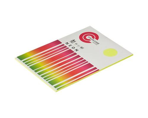 Бумага цветная ColorCode Neon А4 желтая 75 г/кв.м 100 листов - (473363К)
