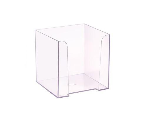 Бокс для бумаги прозрачный 90х90х90 мм - (479037К)