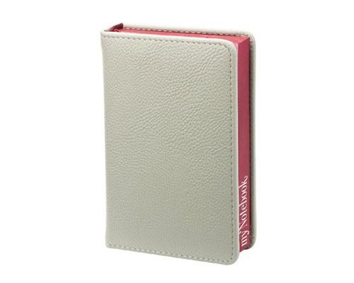 Ежедневник недатированный In my style искусственная кожа А6 144 листа серый бордовый обрез, 100х140 мм - (385591К)