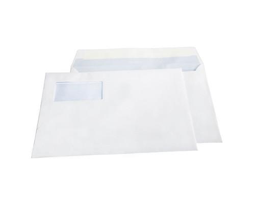 Конверт почтовый BusinessPost C4 229x324 мм белый отрывная силиконовая лента левое верхнее окно 250 штук в упаковке - (128772К)