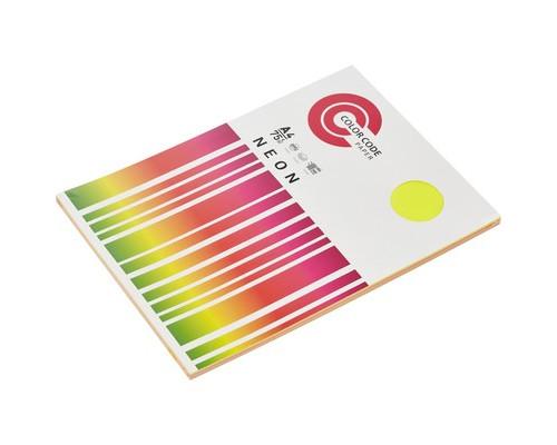 Бумага цветная ColorCode Neon А4 микс 75 г/кв.м 5 цветов по 20 листов - (569701К)