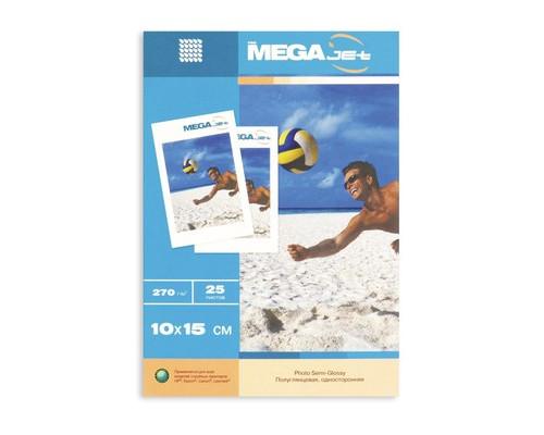 Фотобумага MEGA Jet Ultra Photo полуглянцевая 10х15 270 г/кв.м 25 листов - (75349К)