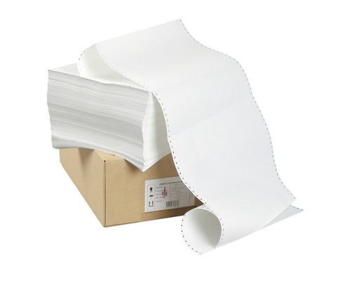 Перфорированная бумага однослойная ProMega 240 мм x 610 м 60 г/кв.м 2000 листов в упаковке - (8418К)