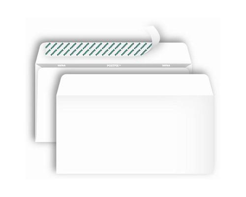 Конверт почтовый Postfix Bong Е65 110x220 мм белый удаляемая лента 1000 штук в упаковке - (269726К)