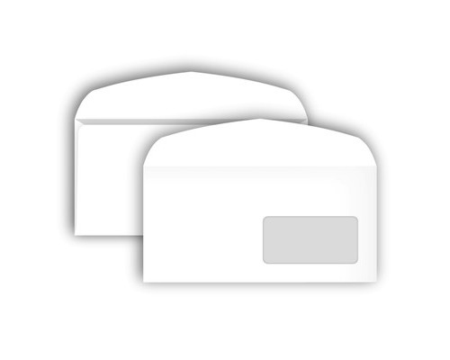 Конверт почтовый Bong С65 114x229 мм белый с клеем автомат правое окно 1000 штук в упаковке - (339966К)