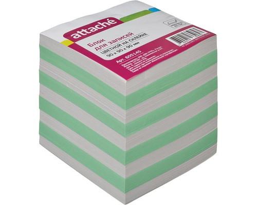 Блок-кубик Attache на склейке цветной 90х90х90 мм - (605145К)
