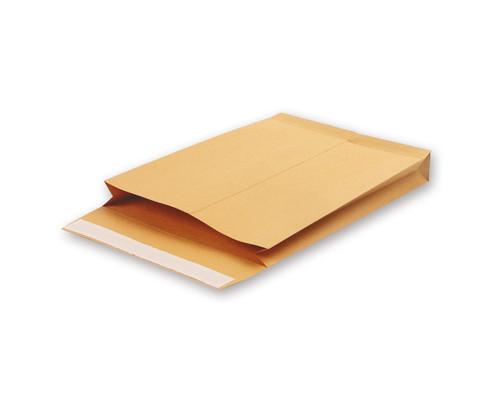 Пакет почтовый Gusset С4 из крафт-бумаги стрип 229х324 130 г/кв.м 200 штук в упаковке - (95222К)