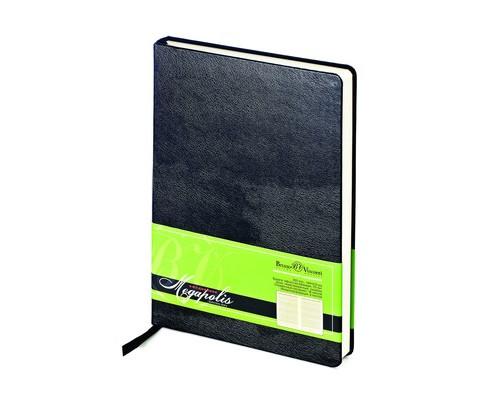 Ежедневник недатированный Bruno Visconti Megapolis А5 160 листов черный 145x215 мм - (257579К)