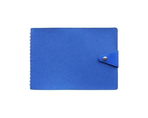 Планинг недатированный Wave искусственная кожа синий 215х150 мм - (479635К)