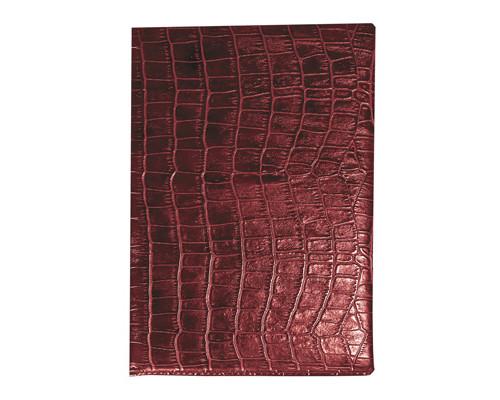 Телефонная книга Attache Croco искусственная кожа А6 56 листов бордовая 85х130 мм - (89811К)
