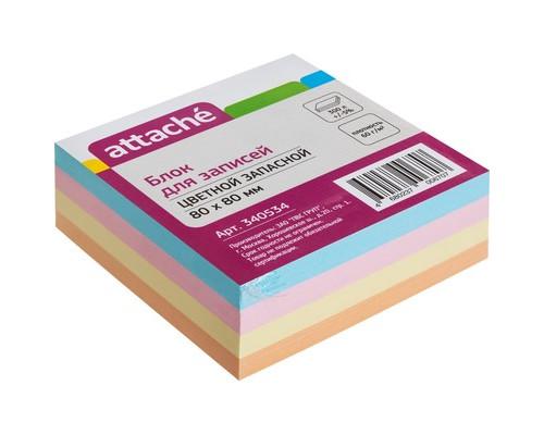 Блок-кубик Attache запасной цветной 80х80 мм - (340534К)