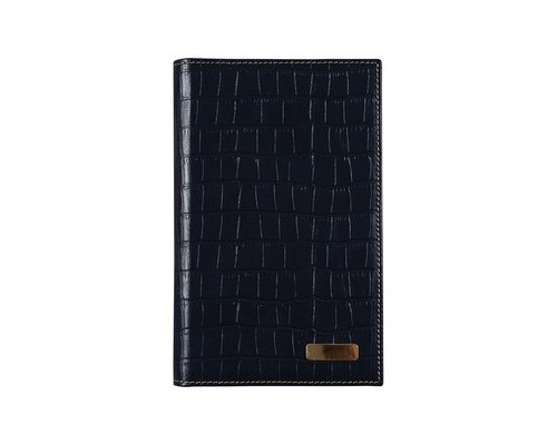 Визитница настольная Bon Carnet Prestige Cro натуральная кожа на 42 визитки синяя - (316101К)