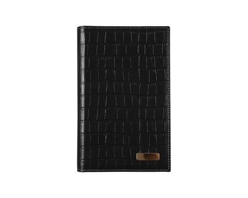 Визитница настольная Bon Carnet Prestige Cro натуральная кожа на 42 визитки черная - (316102К)