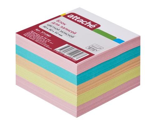 Блок-кубик Attache запасной цветной 90х90х50 мм - (371080К)