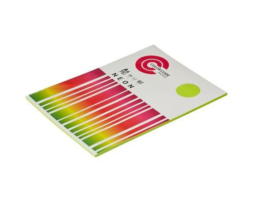 Бумага цветная ColorCode Neon А4 зеленая 75 г/кв.м 100 листов - (473361К)